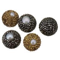 Barock kultivierten Süßwassersee Perlen, Natürliche kultivierte Süßwasserperlen, mit Ton, 16mm, Bohrung:ca. 1mm, 10PCs/Menge, verkauft von Menge