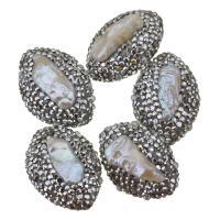 Barock kultivierten Süßwassersee Perlen, Natürliche kultivierte Süßwasserperlen, mit Ton, 20x26-28x12-15mm, Bohrung:ca. 0.5mm, 10PCs/Menge, verkauft von Menge