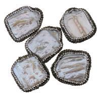 Barock kultivierten Süßwassersee Perlen, Natürliche kultivierte Süßwasserperlen, mit Ton, 25-27x31-33x5-10mm, Bohrung:ca. 0.5mm, 10PCs/Menge, verkauft von Menge