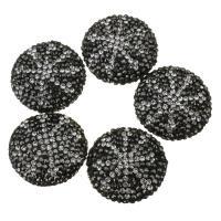 Strass Ton befestigte Perlen, Lehm pflastern, mit Strass, 25x10mm, Bohrung:ca. 1mm, 10PCs/Menge, verkauft von Menge