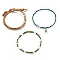 Seedbead Armband-Set, mit Nylonschnur & Zinklegierung, antik silberfarben plattiert, einstellbar & für Frau, frei von Nickel, Blei & Kadmium, Länge:ca. 6.9-9.8 ZollInch, 3SträngeStrang/Menge, verkauft von Menge