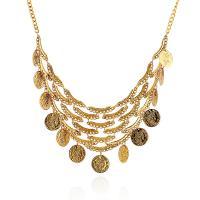 Zinklegierung Schmuck Halskette, mit Verlängerungskettchen von 2inch, plattiert, einstellbar & für Frau, keine, frei von Nickel, Blei & Kadmium, verkauft per ca. 17.5 ZollInch Strang
