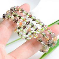 Grüner Phantomquarz Armband, rund, natürlich, unisex & verschiedene Stile für Wahl & 3-Strang, verkauft per ca. 21 ZollInch Strang
