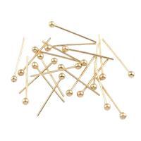 Eisen Ball Head Pin, Rósegold-Farbe plattiert, frei von Nickel, Blei & Kadmium, 2x14x1mm, ca. 20000PCs/Tasche, verkauft von Tasche