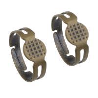 Messing Ringschiene, antike Bronzefarbe plattiert, einstellbar, frei von Nickel, Blei & Kadmium, 8x17mm, Größe:7, 300PCs/Tasche, verkauft von Tasche