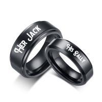 Edelstahl Paar- Ring, schwärzen, verschiedene Größen vorhanden & verschiedene Stile für Wahl, verkauft von PC