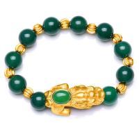 Achat Schmuck Armband, mit Messing, Fabelhaft wildes Tier, goldfarben plattiert, unisex & verschiedene Größen vorhanden, keine, verkauft per ca. 7.5 ZollInch Strang