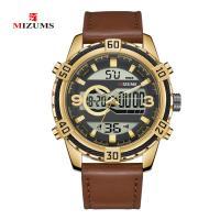 MIZUMS® Uhrenkollektion, Leder, mit Glas & Zinklegierung, plattiert, für den Menschen & glänzend, keine, 50mm, Länge:ca. 10.6 ZollInch, verkauft von PC