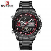 NAVIFORCE® Uhrenkollektion, Edelstahl, mit Glas & Zinklegierung, schwärzen, für den Menschen & glänzend, keine, 46mm, Länge:ca. 9.6 ZollInch, verkauft von PC