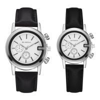 Ehepaar Uhrenarmbänder, PU Leder, mit Glas & Zinklegierung, plattiert, verschiedene Größen vorhanden & für paar, keine, Länge:ca. 8 ZollInch, ca. 9 ZollInch, verkauft von PC