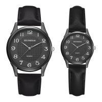 Ehepaar Uhrenarmbänder, Zinklegierung, mit PU Leder & Glas, plattiert, verschiedene Größen vorhanden & für paar, keine, frei von Nickel, Blei & Kadmium, Länge:ca. 8 ZollInch, ca. 9 ZollInch, verkauft von PC