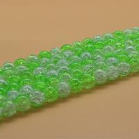 Knistern Quarz Perlen, poliert, verschiedene Größen vorhanden & zweifarbig, Bohrung:ca. 1mm, verkauft von Strang