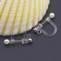 Harz Schraube wieder Clip-on Ohrring, mit ABS-Kunststoff-Perlen & Zinklegierung, plattiert, verschiedene Größen vorhanden & für Frau, keine, 50PaarePärchen/Tasche, verkauft von Tasche
