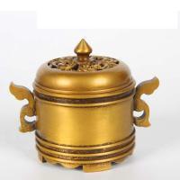 Räucherstäbchen, Messing, antike Goldfarbe plattiert, frei von Nickel, Blei & Kadmium, 130x80x100mm, verkauft von PC