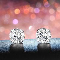 Sterling Silber Schmuck Ohrring, 925er Sterling Silber, silberfarben plattiert, verschiedene Größen vorhanden & für Frau & mit Strass, keine, verkauft von Paar