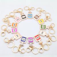 Zinklegierung Schlüsselanhänger, mit Acryl, Flasche, goldfarben plattiert, Emaille & mit Strass, gemischte Farben, frei von Nickel, Blei & Kadmium, 112x30x50mm, verkauft von PC