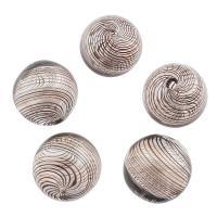 Handgewickelte Perlen, Lampwork, rund, 24mm, Bohrung:ca. 1mm, 5PCs/Tasche, verkauft von Tasche