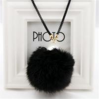 Zinklegierung Pullover Halskette, mit Plüsch & ABS Kunststoff, plattiert, für Frau & mit Strass, keine, frei von Nickel, Blei & Kadmium, verkauft per ca. 30.71 ZollInch Strang