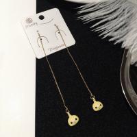 Zinklegierung Gewinde durch Ohrringe, Tier, goldfarben plattiert, Koreanischen Stil & für Frau, gelb, frei von Nickel, Blei & Kadmium, 9x85mm, verkauft von Paar