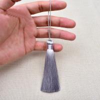 Polyestergarne Hängende Dekoration, QuasteTroddel, handgemacht, Multifunktions, keine, 10x150mm, 10PCs/Tasche, verkauft von Tasche