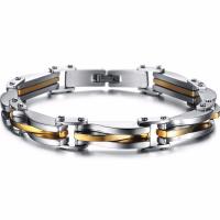 Titanstahl Armband, plattiert, für den Menschen, Länge:ca. 8.7 ZollInch, verkauft von PC