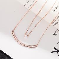 Kubischer Zirkon Micro Pave Sterling Silber Halskette, 925er Sterling Silber, plattiert, Oval-Kette & Micro pave Zirkonia & für Frau & 2 strängig, keine, verkauft per ca. 15.75 ZollInch Strang