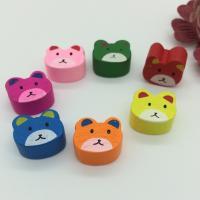 Holzperlen, Holz, Bär, Einbrennlack, 16x15mm, Bohrung:ca. 2mm, 50PCs/Tasche, verkauft von Tasche