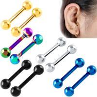 Edelstahl Piercing Stäbe, unisex, keine, 1.2mm, 6mm, 3mm, 2PCs/Menge, verkauft von Menge