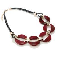 Acryl Halskette, mit Gewachste Nylonschnur & Zinklegierung, mit Verlängerungskettchen von 2inch, goldfarben plattiert, für Frau, keine, Länge:ca. 19 ZollInch, verkauft von PC