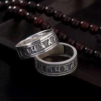 990 Sterling Silber Open -Finger-Ring, unisex & verschiedene Stile für Wahl, 7mm, 1.5mm, Größe:6-12, verkauft von PC
