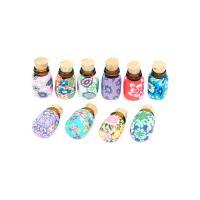 Polymer Ton Parfümflasche, Kunstdruck, 11x18mm, 10PCs/Menge, verkauft von Menge