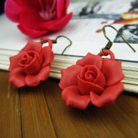 Porzellan Tropfen Ohrring, Blume, für Frau, keine, 15mm, verkauft von Paar