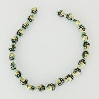 Tier Lampwork Perlen, Fisch, 15x11x7mm, Bohrung:ca. 2mm, ca. 24PCs/Strang, verkauft per ca. 13 ZollInch Strang