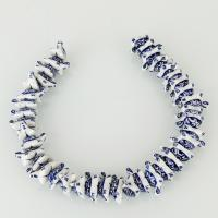 Porzellan Schmuckperlen, Schildkröter, 10x21x13mm, Bohrung:ca. 2mm, ca. 39PCs/Strang, verkauft per ca. 13.5 ZollInch Strang