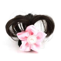 Haarklammer, Kunststoff, mit Künstliche Faser & Stoff, Blume, für Frau, Rosa, 37x36x18mm, verkauft von PC