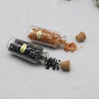 Natürlicher Quarz Wunschflasche, mit Glas, poliert, 28x56mm, 6PCs/Box, verkauft von Box