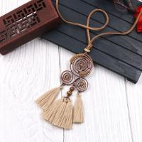 Zinklegierung Franse Halskette, mit Caddice, plattiert, für Frau, frei von Nickel, Blei & Kadmium, 120x35mm, verkauft von Paar