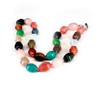 Edelstein Schmuck Halskette, poliert, unisex, farbenfroh, 10x15mm, verkauft per ca. 19.69 ZollInch Strang