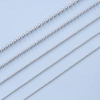 925 Sterling Silber Halskette Kette, 925er Sterling Silber, unterschiedliche Länge der Wahl & Kugelkette, 1-2.5mm, verkauft von Strang