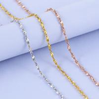 925 Sterling Silber Halskette Kette, Messing, plattiert, unterschiedliche Länge der Wahl, keine, frei von Nickel, Blei & Kadmium, 0.8-1.2mm, verkauft von Strang