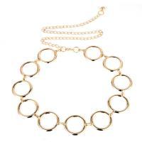 Eisen Taillenkette, Kreisring, goldfarben plattiert, einstellbar & für Frau & hohl, frei von Nickel, Blei & Kadmium, 44mm, verkauft per ca. 23 ZollInch Strang