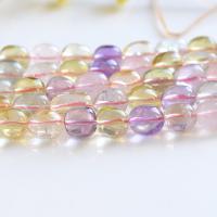 Natürlicher Quarz Perle, DIY, farbenfroh, verkauft von Strang