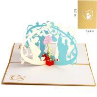 Papier 3D Grußkarte, handgemacht, hohl, farbenfroh, 150x100mm, verkauft von PC