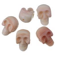 Achat Perlen, Rosa Muschel, Schädel, Rosa, 12x19x12mm, Bohrung:ca. 2mm, verkauft von PC