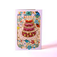 Papier 3D Grußkarte, handgemacht, hohl, farbenfroh, 200x150mm, verkauft von PC