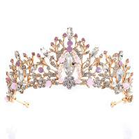Krone, Zinklegierung, mit Perlen & Strass, plattiert, handgefertigt & für Braut & mit Strass, keine, frei von Nickel, Blei & Kadmium, 160*70mm, verkauft von PC