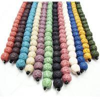 Natürliche Lava Perlen, rund, poliert, DIY & verschiedene Größen vorhanden, keine, verkauft per ca. 15 ZollInch Strang