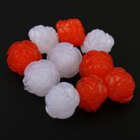 Gemischte Acrylperlen, Acryl, Rose, gemischte Farben, 19x6mm, Bohrung:ca. 2mm, ca. 180PCs/Tasche, verkauft von Tasche