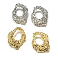 Zinklegierung Ohrstecker, plattiert, für Frau, keine, frei von Nickel, Blei & Kadmium, 36x44mm, verkauft von Paar