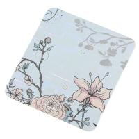 Papier Quadrat, mit Blumenmuster, blau, 60*55mm, verkauft von setzen